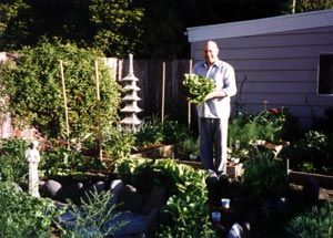 Chris Maser in his garden.
